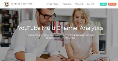 YouTube Multi Channel Analytic website for sale Work from home make money online