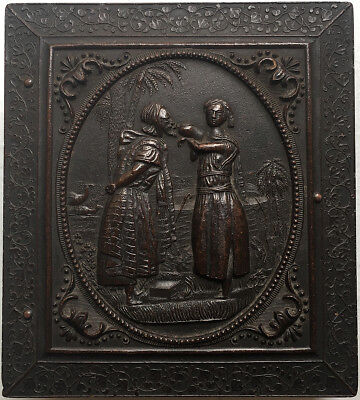 """""""Rebekah at the Well"""" Sixth Plate Thermoplastic Case Berg 1-85 Listed SCARCE"""