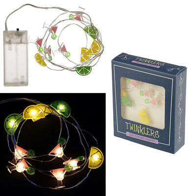 Led Cocktails Fairy Lights Light Party Drinks Bar Parties Holiday Pub Lemon Lime