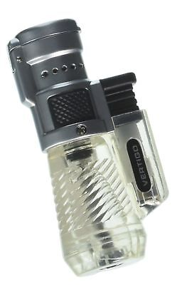 Vertigo by Lotus Cyclone Triple Torch Cigar Lighter Clear 1 pk