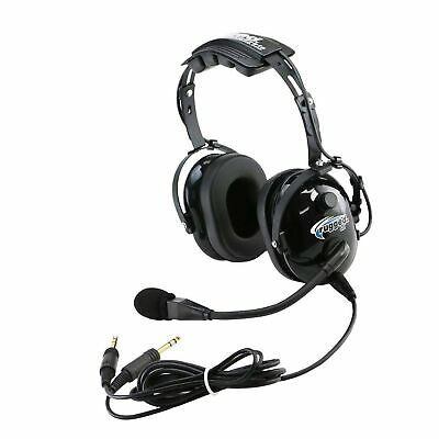 54017084f60 Rugged Air RA200 General Aviation Pilot Headset with GA Dual Plugs and MP3  Mu.