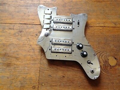 VINTAGE 1960's TEISCO ELECTRIC GUITAR GOLDFOIL PICKUPS AS IS