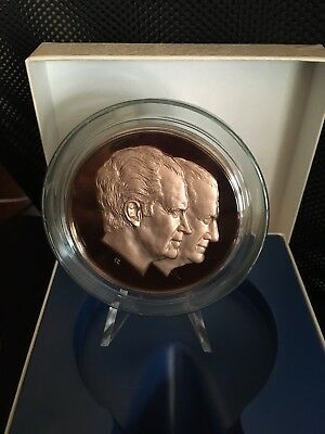 Official 1973 Richard Nixon Spiro Agnew Inauguration Medal Solid Bronze Proof Ed