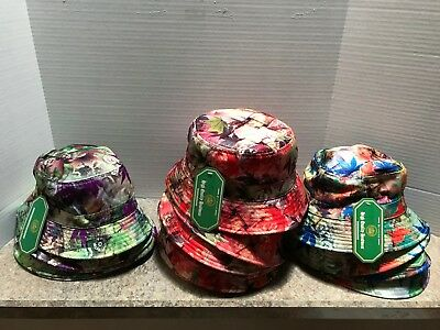 Lot Of 17 Lovely Fall Leaves  Bucket Hats - 100% Cotton - 3 Color Combinations