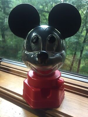1968 Hasbro Mickey Mouse Gumball machine bank with clear face