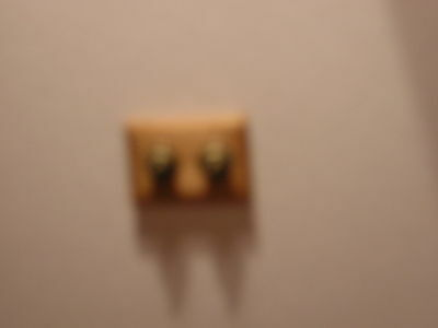 1/12th Dollshouse Miniature Double Light Switch (Non Working)