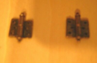 1/12th Dollshouse Miniatures Metal Door Hinges with Antique Brass Finish