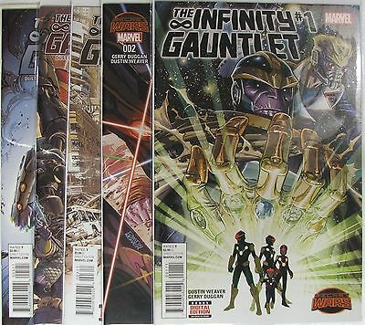 Marvel Comics lot of 5 The Infinity Gauntlet.  Secret Wars Tie In.