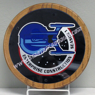 COOL Star Trek: Enterprise CAST & CREW ONLY Season One GIFT PLAQUE w/Patch Logo!