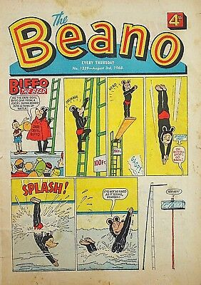 BEANO - 3rd AUGUST 1968 (1st - 7th Aug) FAB BELATED 50th BIRTHDAY GIFT !! beezer