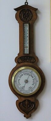 Very large Edwardian banjo barometer