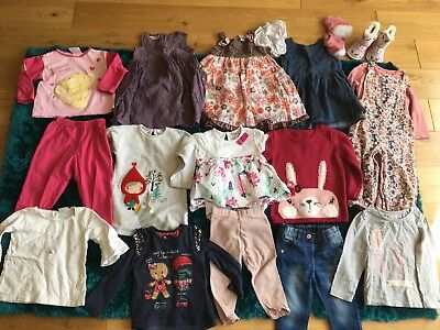 Baby Girls Age 12-18 Months Bundle Clothes Next Ted Baker Top Dress Pyjamas