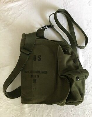 US Military ABC- M17 Field Protective Gas Mask Canvas Carry Bag/Case W/Straps M