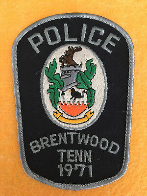 Brentwood TN Police Department Patch