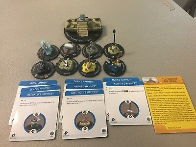 HeroClix Marvel The Book of the Skull with all 8 Hammers Complete.