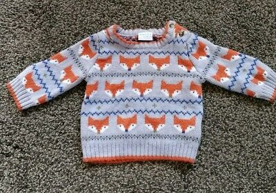 Baby Jumper Size 0-3 Months Fox Design Miniclub Cute!