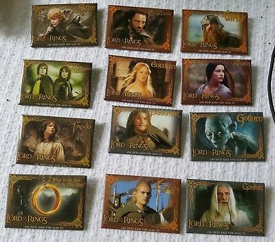 Lord of the Rings : Return of the King DVD Promotional Badges Set 12 Pin Lot