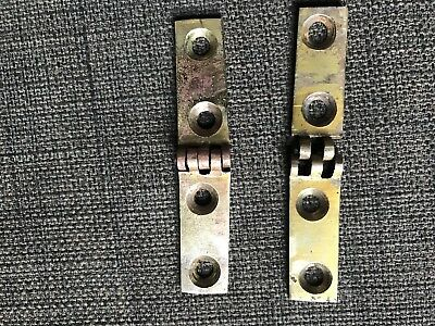 Pair of brass flap hinges for vintage/antique writing slope.
