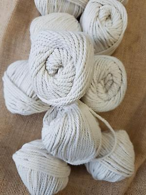 5mm macrame Cotton Rope Natural Beige handcraft cord 10 balls approx 300m