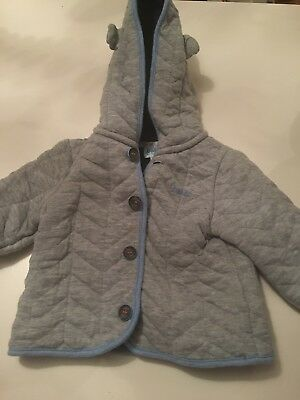 Baby Boys Ted Baker Grey Jacket 3-6 Months.