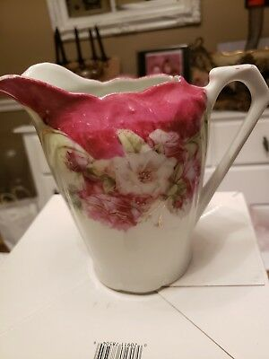 Marked Hand Painted In Germany Creamer Or Pitcher.