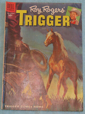 Roy Rogers Trigger Horse No 17 Western Dell TV Series Golden Comic Book Jun 1955