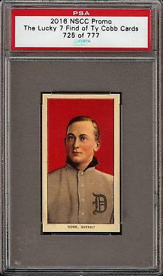 1909-11 T206 Ty Cobb Red Portrait 2016 NSCC PSA Promo Lucky 7 Find 725/777