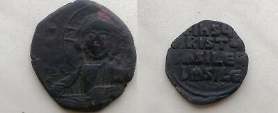 JESUS CHRIST Class A2 Anonymous Ancient 1025AD Byzantine Follis Coin