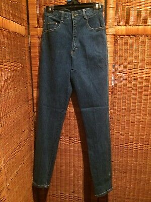Vintage  New 1980S Stretch Denim High Waisted Jeans size 9/10