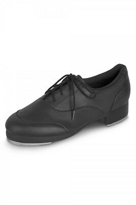 Leo's Black Ultra Jazz Tap Dance Shoe Adult 7M (Also Fits Youth 5)