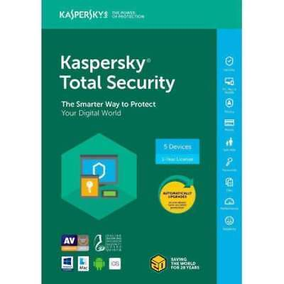 Kaspersky total security   2018 DOWNLOAD 1device/1Year PC ANDROID MAC EU AND UK