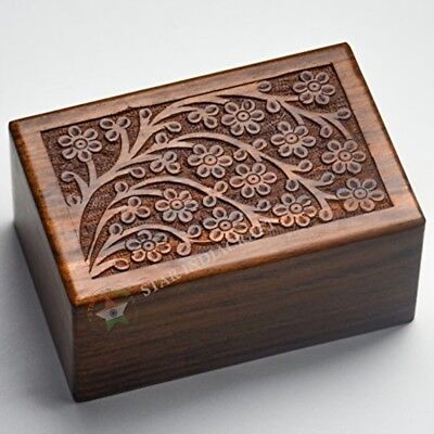Commemorative Cremation Urn Wooden Handcarved Rosewood Box For Pet Dog Cat Ashes