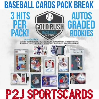 2018 Gold Rush MLB BASEBALL Value PACK BREAK #232- 3 HITS! - 1 RANDOM TEAM