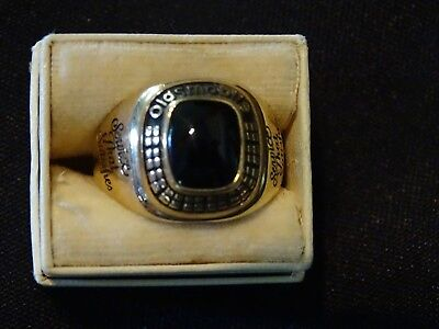 Vintage solid gold mens 10k ring Oldsmobile Service that Satisfies large heavy!