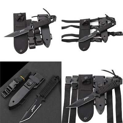 Scuba Diving Knife BLACK Tactical Sharp Blade Knives Divers Dive Tool W 2 Types