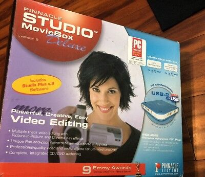 Pinnacle Studio Movie Box Deluxe USB2 MovieBox Video Editing Box and Cables Only