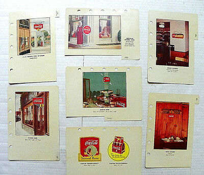 "(Lot Of 7) ""drink Coca-Cola"" Pages From Salesman's Store Merchandise Catalog"