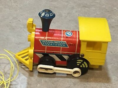 Vintage Fisher Price Toot-Toot Pull Toy