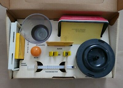 Vintage Beginner's Film Developing Kit, 120MM  Film, Tank, Clips, Graduate, Bulb