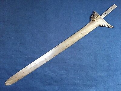 Antique Moro Kris Keris Sword No Handle Or Scabbard 22.25 Inch Blade Philippines