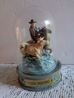 Franklin Mint John Wayne Collectors Sculiper #A2000 Hand Painted Limited Edition
