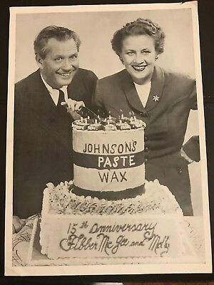 Fibber McGee and Molly Johnson's Paste Wax Promo Photo