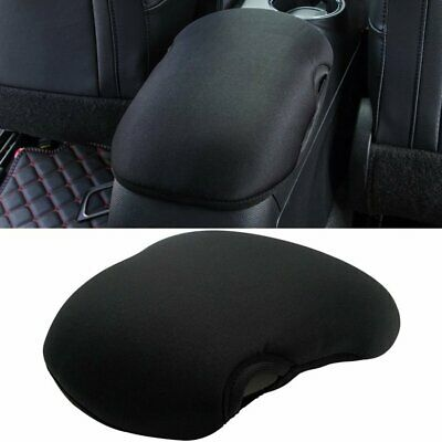 Center Console Car Armrest Pad Cover Protector Cushion for Ford Mustang (BLACK)