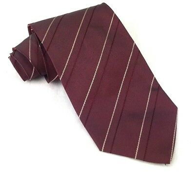 Hugo Boss Red with Gold Stripe 100% Silk Tie 57""