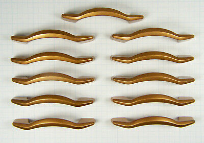 Lot of 11 Reclaimed Vintage Bronze Tone Mid Century Modern Drawer Pulls