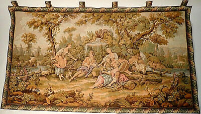 Large Figural Landscape Wall Tapestry