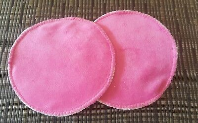WASHABLE & REUSABLE BAMBOO CLOTH NURSING BREAST PADS - 1 Pair