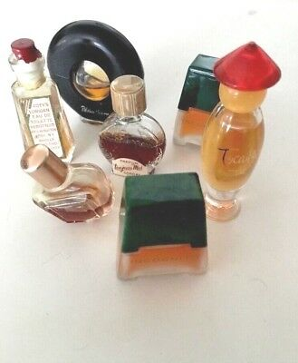⭐️ LOT OF 7 VINTAGE MINI & MICRO MINI PERFUMES~TOCADE By ROCHAS~TOUJOURS~COTY
