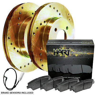 Black Hart *DRILLED /& SLOTTED* Disc Brake Rotors F2555 2 FRONTS