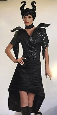 Disney Disguise Maleficent Movie Cosplay Deluxe Adult Costume Large 12-14 Horns
